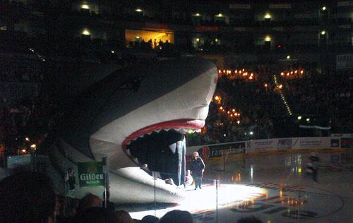 Kölner Haie bei der Saisoneröffnung 2010